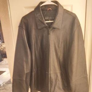 Perry Ellis Mens Leather Jacket